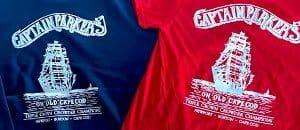 two Captain Parkers t-shirts